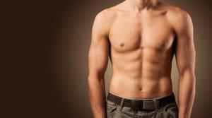 Beautiful male torso Muscular man